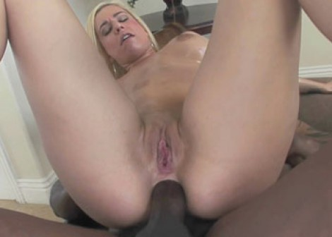Blonde Mariah takes a black dick in her butt