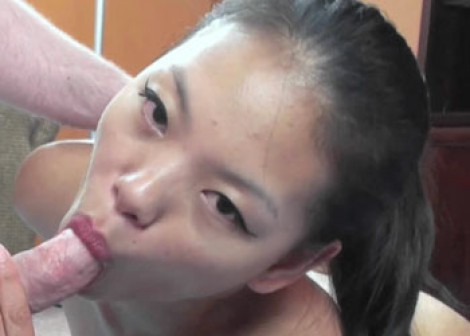 Asian Olivia is getting fucked in the ass